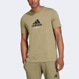 テニス グラフィック 半袖Tシャツ (グリーン)