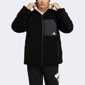 リバーシブル シェルパジャケット (ブラック)