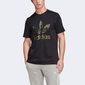カモフラージュ 半袖Tシャツ (ブラック)