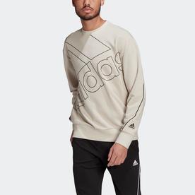 ジャイアントロゴスウェット(ジェンダーニュートラル)/ Giant Logo Sweatshirt (Gender Neutral) (ベージュ)