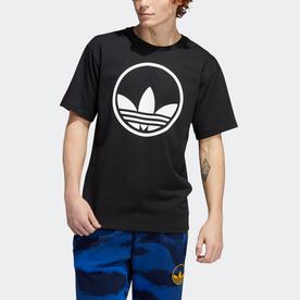サークル トレフォイル 半袖Tシャツ (ブラック)