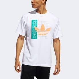 グリッド トレフォイル 半袖Tシャツ (ホワイト)