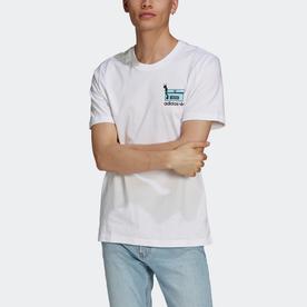 ワーム チェストプリント Tシャツ (ホワイト)