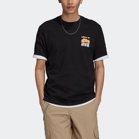 アドベンチャー マウンテン バックプリントTシャツ (ブラック)