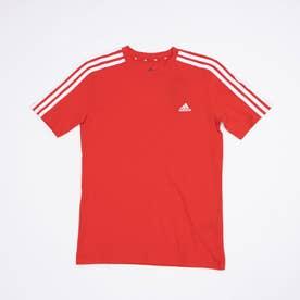 半袖Tシャツ BESS3ストライプスTシャツ GN3997 (レッド)