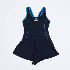 水泳 スクール水着 BOS Dress Swimsuit Girl FI8274 【返品不可商品】 (ネイビー)