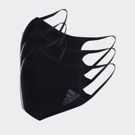 フェイスカバー スリーストライプス - 非医療用 【返品不可商品】(ブラック)