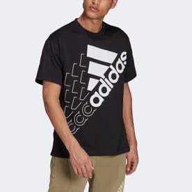 エッセンシャルズ ロゴ 半袖Tシャツ(ジェンダーニュートラル) (ブラック)