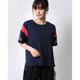 レディース 半袖機能Tシャツ W MH カラーブロック ルーズTシャツ FM5171