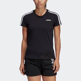 エッセンシャルズ スリーストライプス Tシャツ [Essentials 3-Stripes Tee] (ブラック)