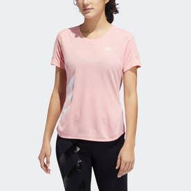 ラン イット 3ストライプス ファスト 半袖Tシャツ / Run It 3-Stripes Fast Tee (ピンク)