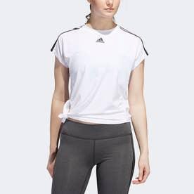 スリーストライプス タイ 半袖 Tシャツ / 3-Stripes Tie Tee (ホワイト)
