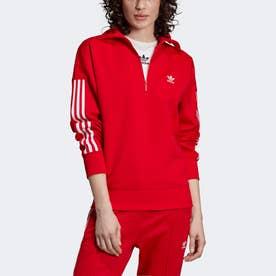 ハーフジップ スウェットシャツ / Half-Zip Sweatshirt (レッド)