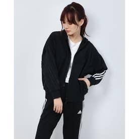 レディース ニットジャケット WMHSSWTジャケット GF6946 (ブラック)