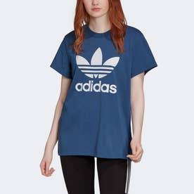 ボーイフレンド トレフォイル 半袖Tシャツ [Boyfriend Trefoil Tee] (ブルー)