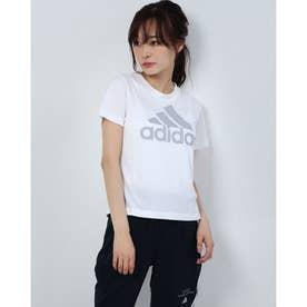 レディース フィットネス 半袖Tシャツ WBOSLOGOTEE GC8182 (ホワイト)