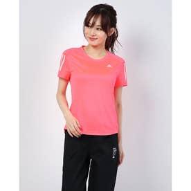 レディース 陸上/ランニング 半袖Tシャツ OWN THE RUN TEE FT2404 (ピンク)