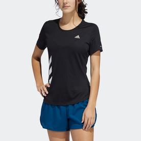 ラン イット 3ストライプス ファスト 半袖Tシャツ / Run It 3-Stripes Fast Tee (ブラック)