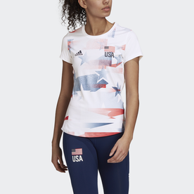 USA バレーボール PRIMEBLUE レプリカTシャツ / USA Volleyball Primeblue Replica Tee (ホワイト)