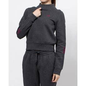 レディース ニットジャケット WESSENTIALSCOMFORTスウェットシャツ GD2585 (グレー)