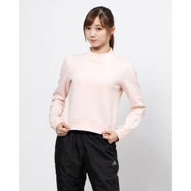 レディース ニットジャケット WESSENTIALSCOMFORTスウェットシャツ GD2586 (ピンク)