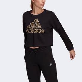 レオパード グラフィック スウェット / Leopard Graphic Sweatshirt (ブラック)