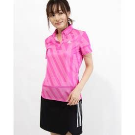 レディース ゴルフ 半袖シャツ ADIDASプリント 半袖シャツ GM3762 (ピンク)
