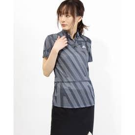 レディース ゴルフ 半袖シャツ ADIDASプリント 半袖シャツ GM3676 (ネイビー)