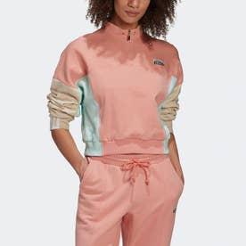 R.Y.V. クロップド スウェットシャツ (ピンク)