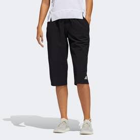 ウーブン カプリパンツ / Woven Capri Pants (ブラック)