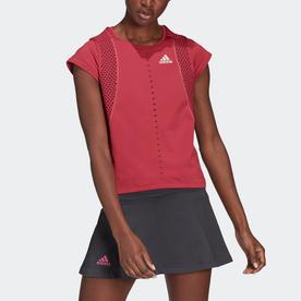 PRIMEBLUE プライムニット テニス Tシャツ / Primeblue Primeknit Tennis Tee (ピンク)