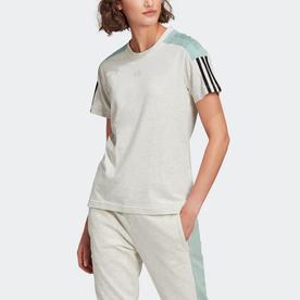 エッセンシャルズ ロゴ カラーブロック 半袖Tシャツ / Essentials Logo Colorblock Tee (ホワイト)