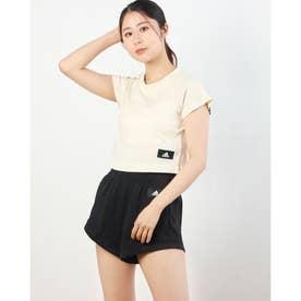 レディース 半袖Tシャツ WリサイクルコットンクロップドTEE GL0346 (ホワイト)