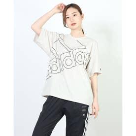 レディース 半袖Tシャツ WESSBRANDLOVEUTTシャツ GM5571 (ホワイト)