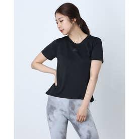 レディース フィットネス 半袖Tシャツ WH.RDYTEE H20744 (ブラック)