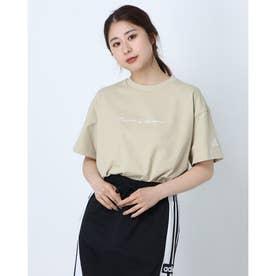 レディース 半袖Tシャツ WOVERSIZEDTEE H66301 (ベージュ)