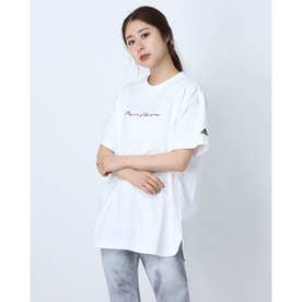 レディース 半袖Tシャツ WOVERSIZEDTEE H66299 (ホワイト)