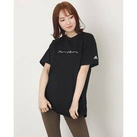 レディース 半袖Tシャツ WOVERSIZEDTEE H66298 (ブラック)
