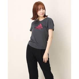 レディース 陸上/ランニング 半袖Tシャツ RUN LOGO TEE W GJ6459 (グレー)