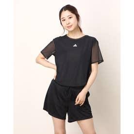 レディース フィットネス 半袖Tシャツ WDANCETEE GP6788 (ブラック)