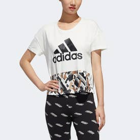 U4U クロップド半袖Tシャツ / U4U Cropped Tee (ホワイト)