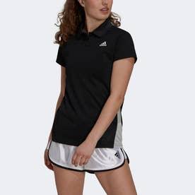テニス ピケ ポロシャツ (ブラック)