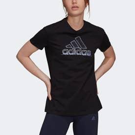 スノーフレーク パーレセント グラフィック 半袖Tシャツ (ブラック)
