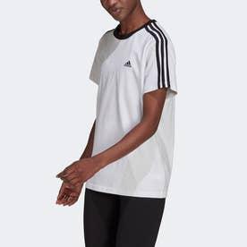 エッセンシャルズ スリーストライプス 半袖Tシャツ (ホワイト)