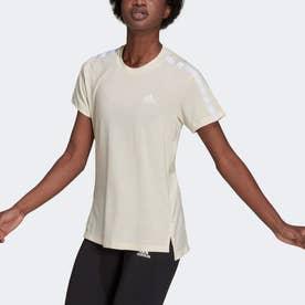 AEROREADY デザインド トゥ ムーブ コットン タッチ 半袖Tシャツ (ホワイト)