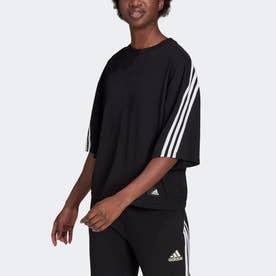 スポーツウェア フューチャー アイコン スリーストライプス 半袖Tシャツ (ブラック)