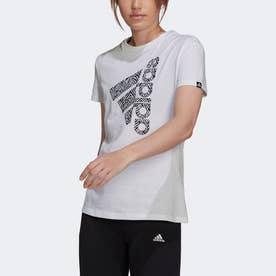 ゼブラ ロゴ グラフィック 半袖Tシャツ (ホワイト)