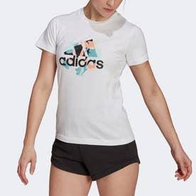 フローラル グラフィック 半袖Tシャツ (ホワイト)