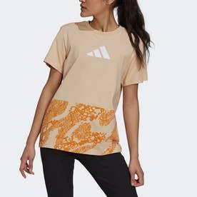 グラフィック 半袖Tシャツ (ピンク)