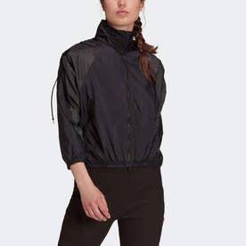 スポーツウェア ウーブン 軽量ジャケット (ブラック)